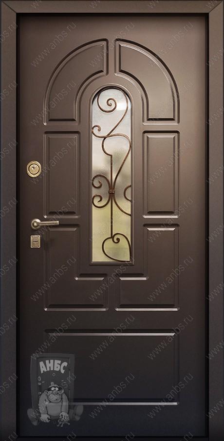 железные двери с расстекловкой