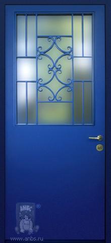 дверь металлическая входная с расстекловкой